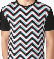 Stereoscopic Chevron Graphic T-Shirt