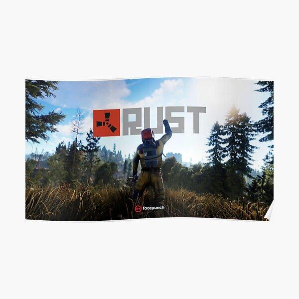 Rust Game Facepunch Logo Gaming Poster