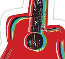 Guitar on Red Sticker