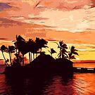 Fijian Sunset by flashman