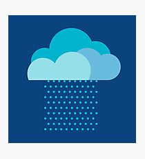 We love weather! rain, clouds, water, raindrop, spring, summer, autumn Photographic Print