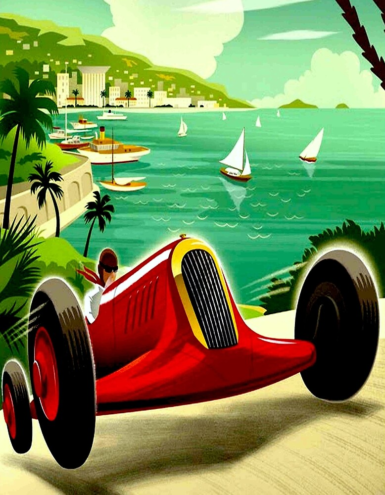"""MONACO GRAND PRIX"" Auto Racing Print by posterbobs"