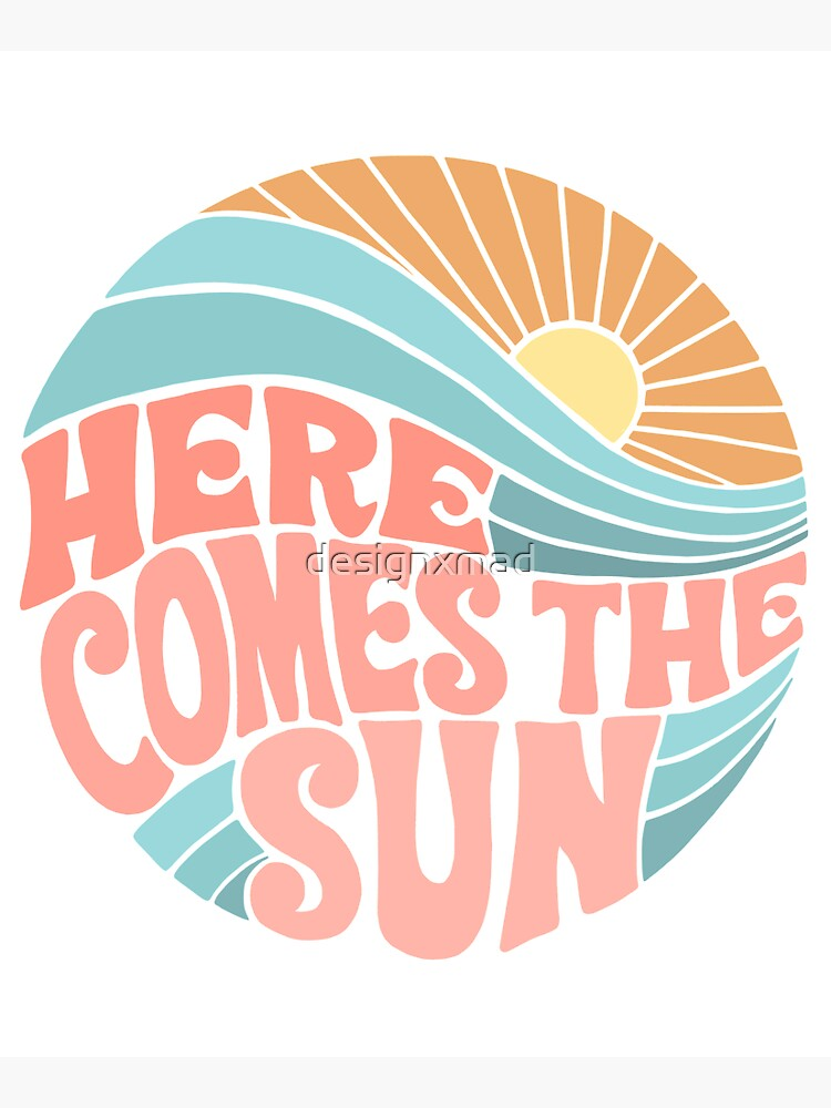 Pink Groovy Here Comes the Sun by designxmad