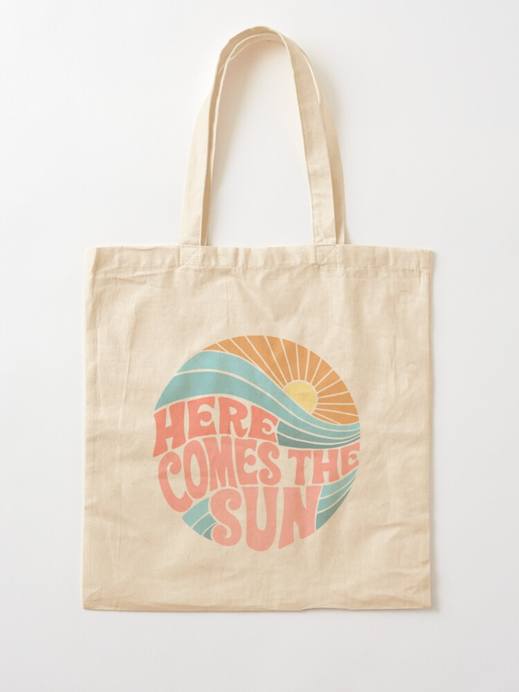 Alternate view of Pink Groovy Here Comes the Sun Tote Bag