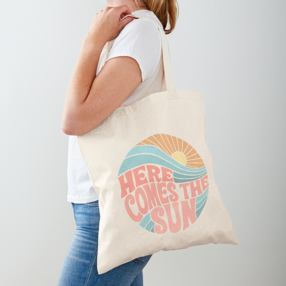 Pink Groovy Here Comes the Sun Tote Bag