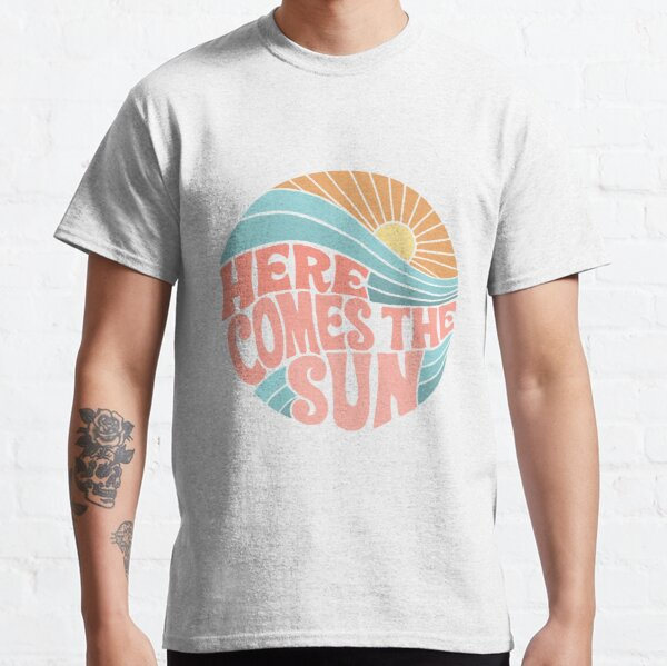 Pink Groovy Here Comes the Sun Classic T-Shirt