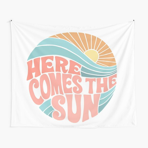 Pink Groovy Here Comes the Sun Tapestry
