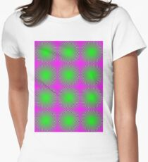 """""""PSYCHEDELIC 3D"""" Whimsical Abstract Print T-Shirt"""