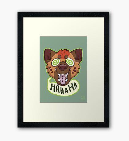 Ha Hyena Framed Print