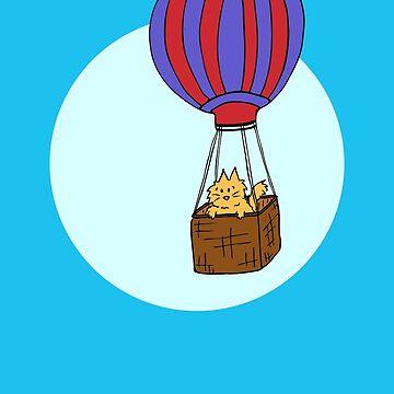 Gato de globo de aire caliente de Elvedee