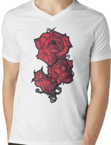 The Rose. Mens V-Neck T-Shirt