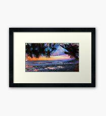 Pandanus Palm Life On the Beach  Framed Print