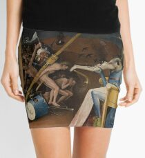 Insight Into Hell by Hieronymus Bosch Mini Skirt