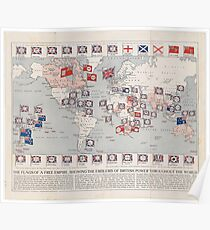 British empire posters redbubble vintage british empire world map 1910 poster gumiabroncs Choice Image