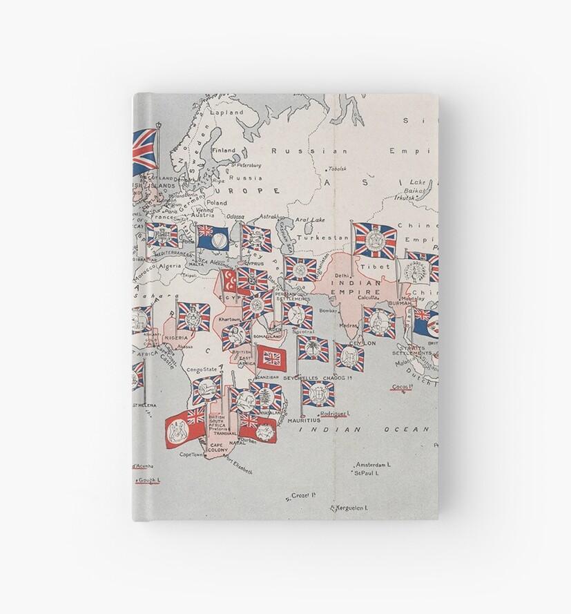 Vintage british empire world map 1910 hardcover journals by vintage british empire world map 1910 by bravuramedia gumiabroncs Choice Image