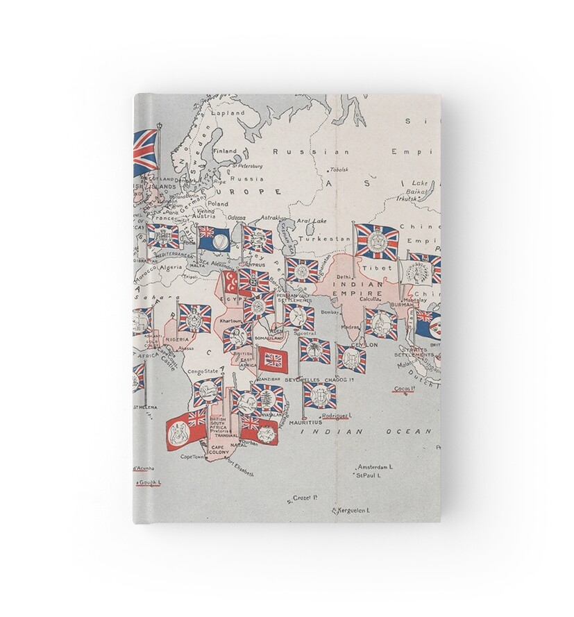 Vintage british empire world map 1910 hardcover journals by vintage british empire world map 1910 by bravuramedia gumiabroncs Gallery