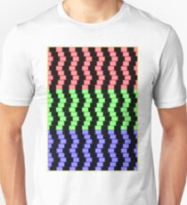 """ABSTRACT 3D BLOCKS"" Psychedelic Print T-Shirt"