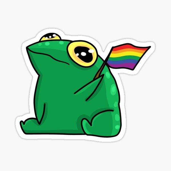 Pride Frog Sticker