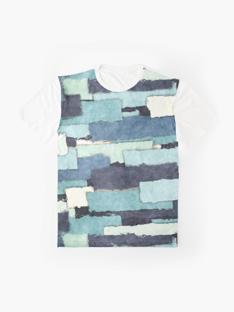 Alternate view of Layers of Colors Pattern Graphic T-Shirt