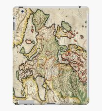 Vintage Map of Europe (1596) iPad Case/Skin