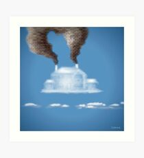 My House In The Clouds Art Print