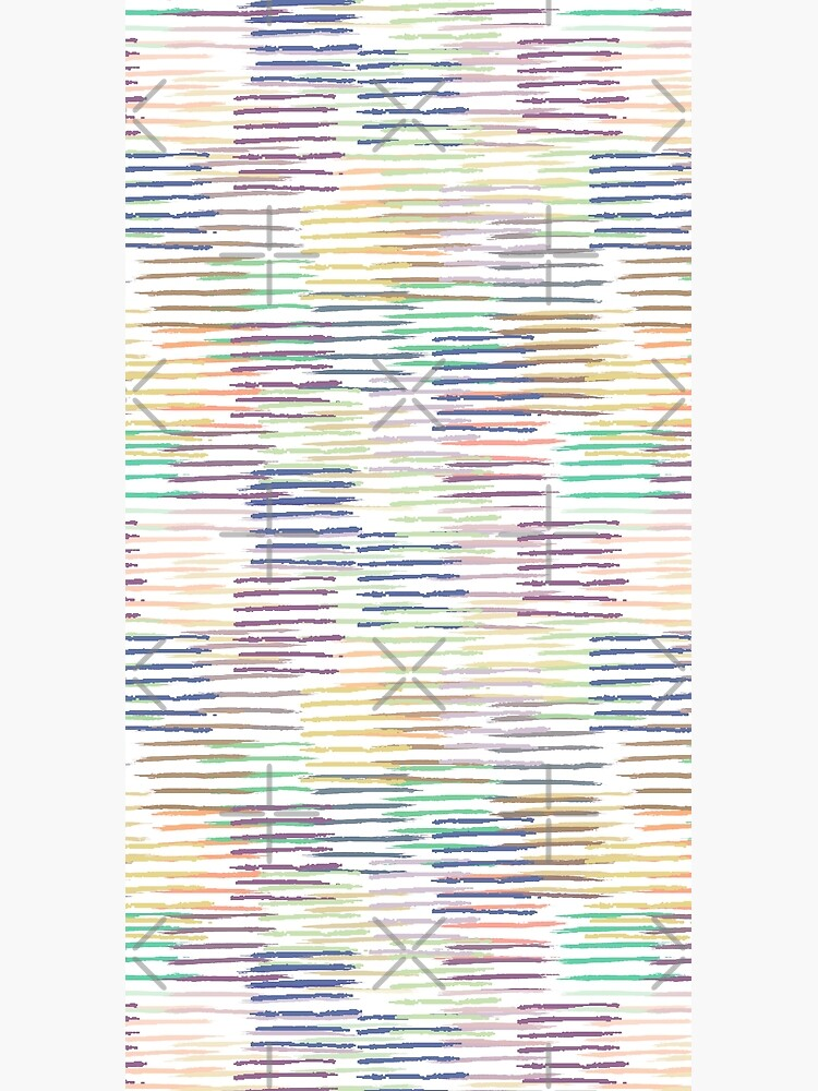 Colorful Pastel Brush Strokes Pattern by Michelebuttons