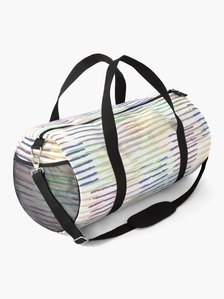 Alternate view of Colorful Pastel Brush Strokes Pattern Duffle Bag