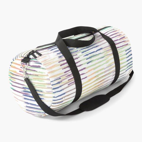 Colorful Pastel Brush Strokes Pattern Duffle Bag