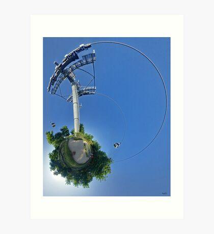 Cable car at Floriade 2012 Art Print