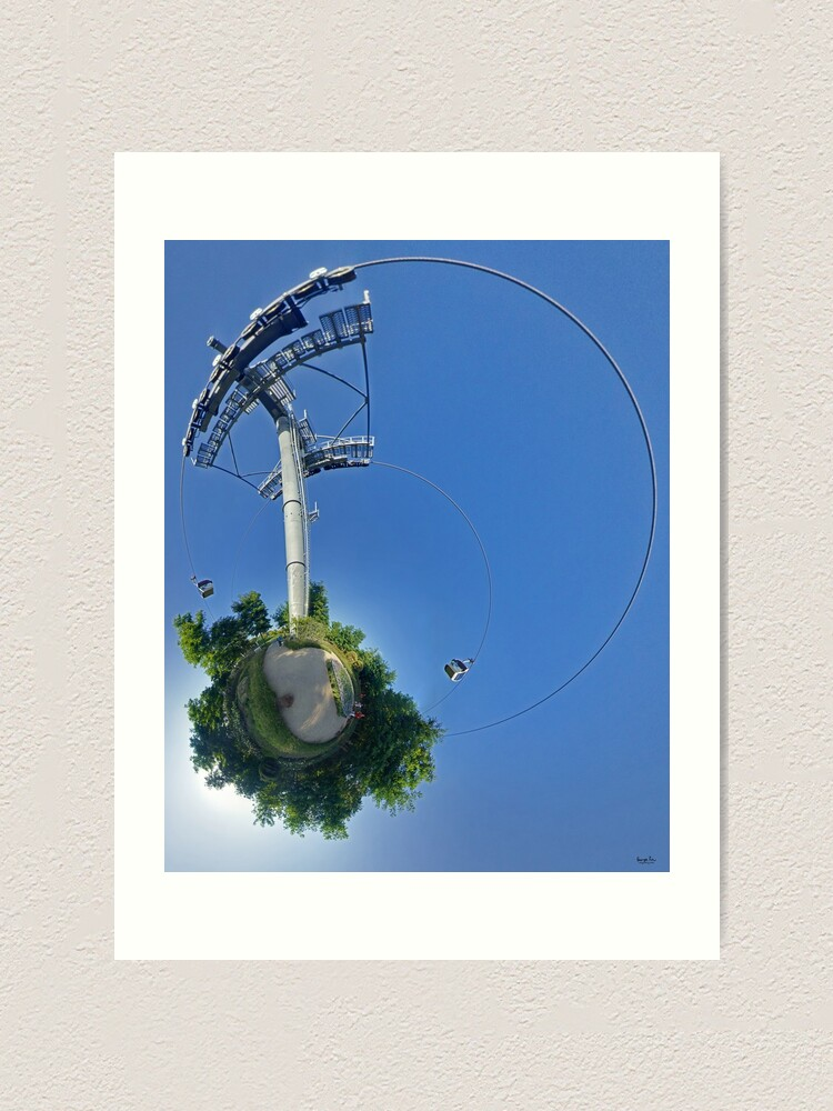 Alternate view of Cable car at Floriade 2012 Art Print