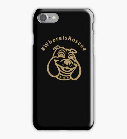 #WhereIsRoscoe (Black & Gold) iPhone Case/Skin