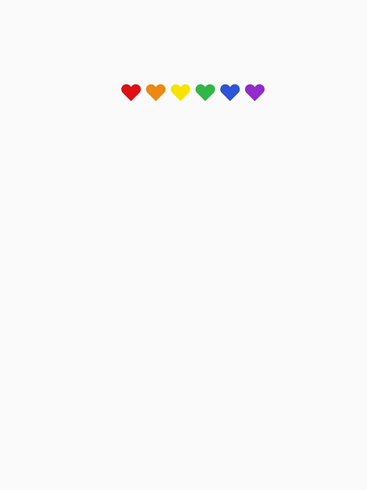 Small Rainbow Hearts Subtle Pride Month by urbnduck
