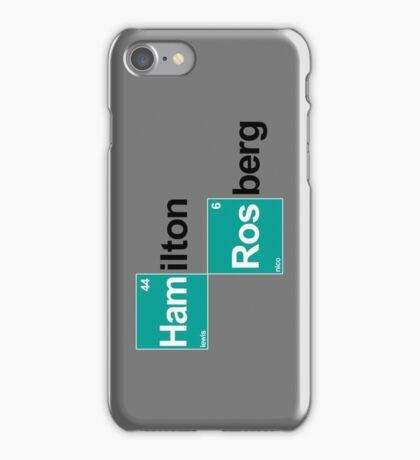 Team Hamilton Rosberg (white T's) iPhone Case/Skin