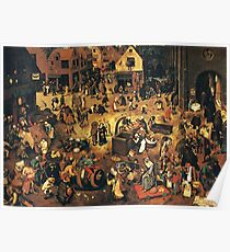 The Fight by Hieronymus Bosch Poster