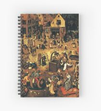 The Fight by Hieronymus Bosch Spiral Notebook