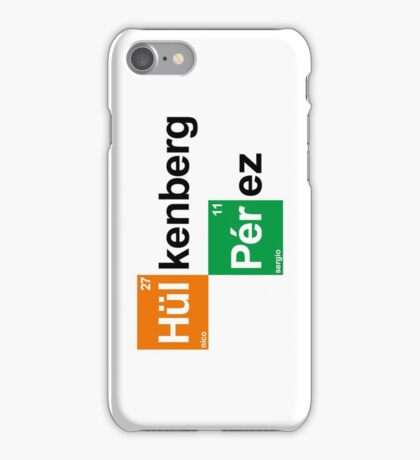 Team Hulkenberg Perez (white T's) iPhone Case/Skin