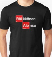 Team Raikkonen Alonso (black T's) T-Shirt