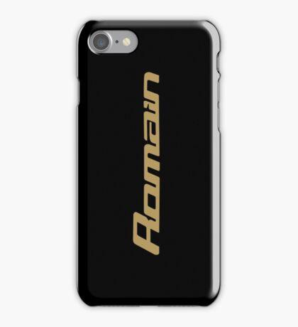 Romain Grosjean (black & gold) iPhone Case/Skin