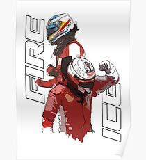 Alonso & Kimi (Fire & Ice) Poster