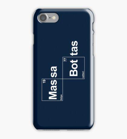 Team Massa Bottas (black T's) iPhone Case/Skin