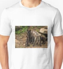 Black Wolf With Pups T-Shirt