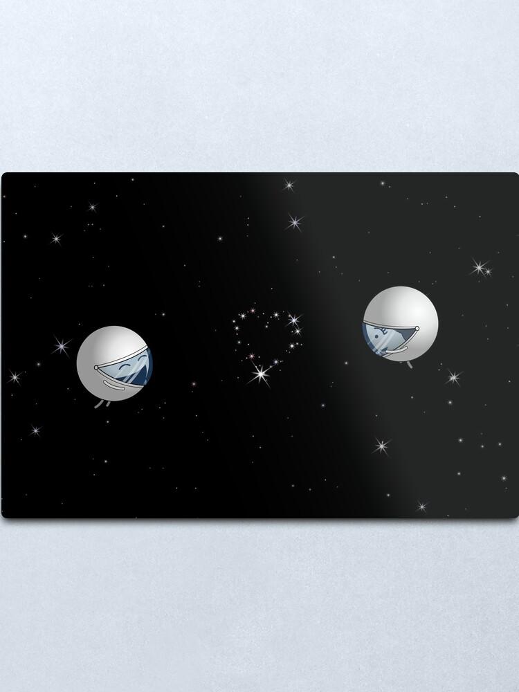 "Alternate view of The Constellation ""Lof"" - two lof bees Metal Print"