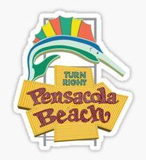 Pensacola Beach Sign, Florida Sticker