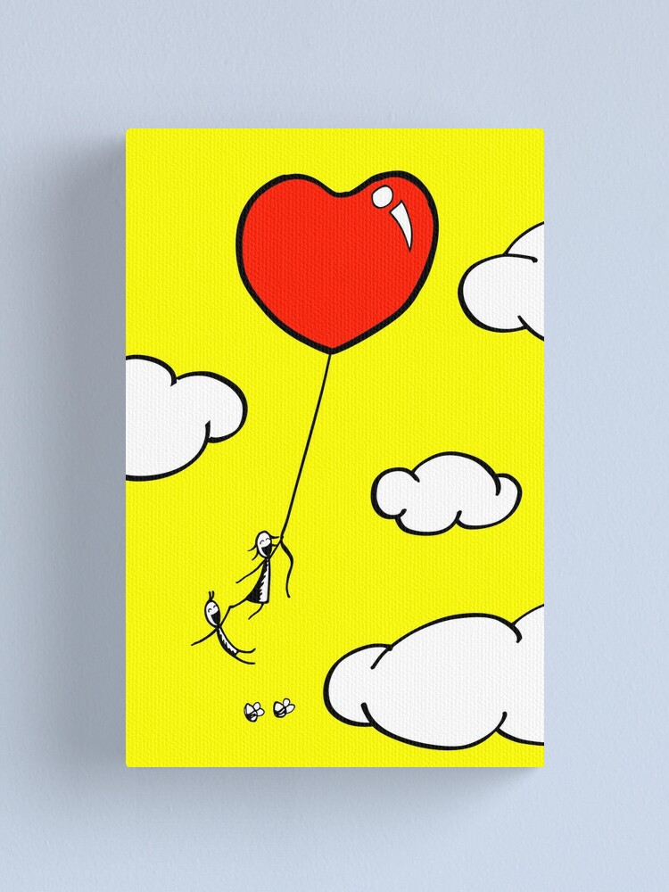 Alternate view of The Lof Balloon - two lof bees Canvas Print