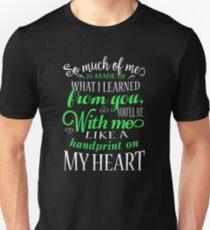 Handprint on My Heart Unisex T-Shirt