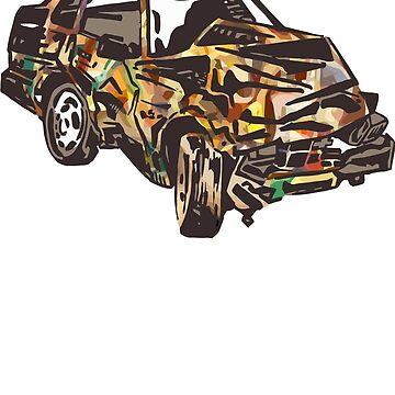 Rainbow Car Wreck by karlfrey