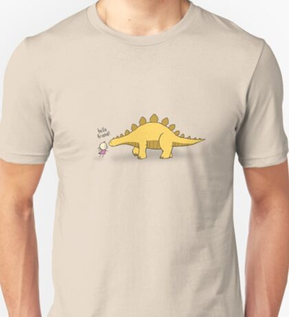 Hello Friend (Dinosaur) - two lof bees T-Shirt