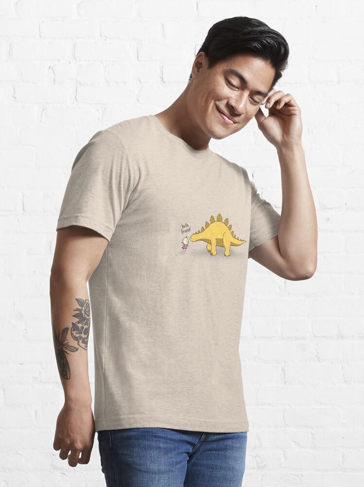 Alternate view of Hello Friend (Dinosaur) - two lof bees Essential T-Shirt