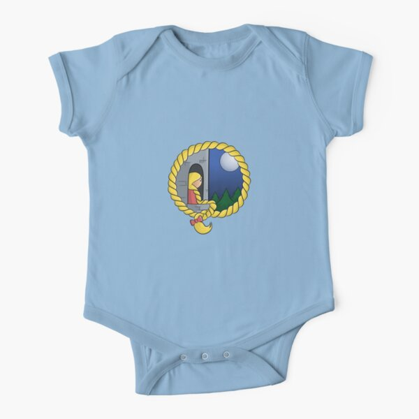 Girl In The Tower Short Sleeve Baby One-Piece