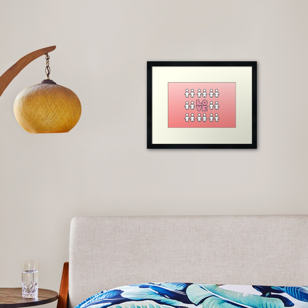 Four Letters - two lof bees Framed Art Print